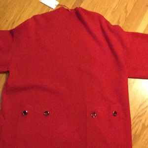 Q2 red dress with pockets Large